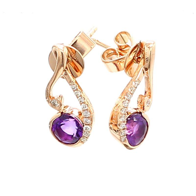 Color by Spicer Greene Amethyst Dangle Earrings