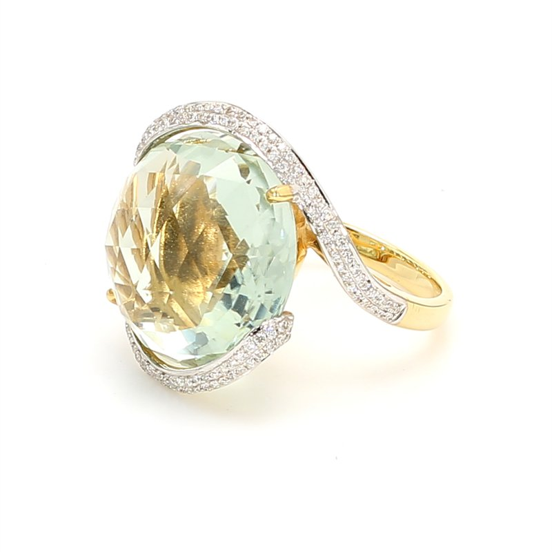 Color by Spicer Greene Prasiolite Bypass Ring