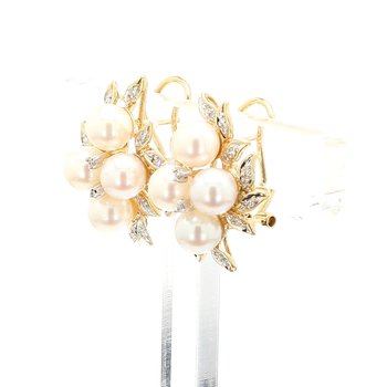 Akoya Cultured Pearl Omega Back Earrings