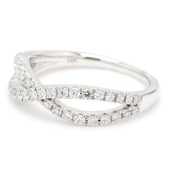 Twist Diamond Wedding Band