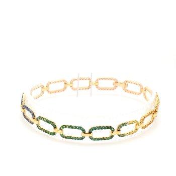 Rainbow Fancy Link Bracelet