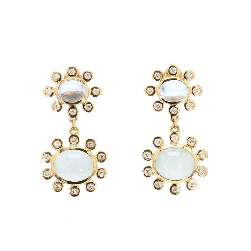 Estate Aquamarine Dangle Earrings
