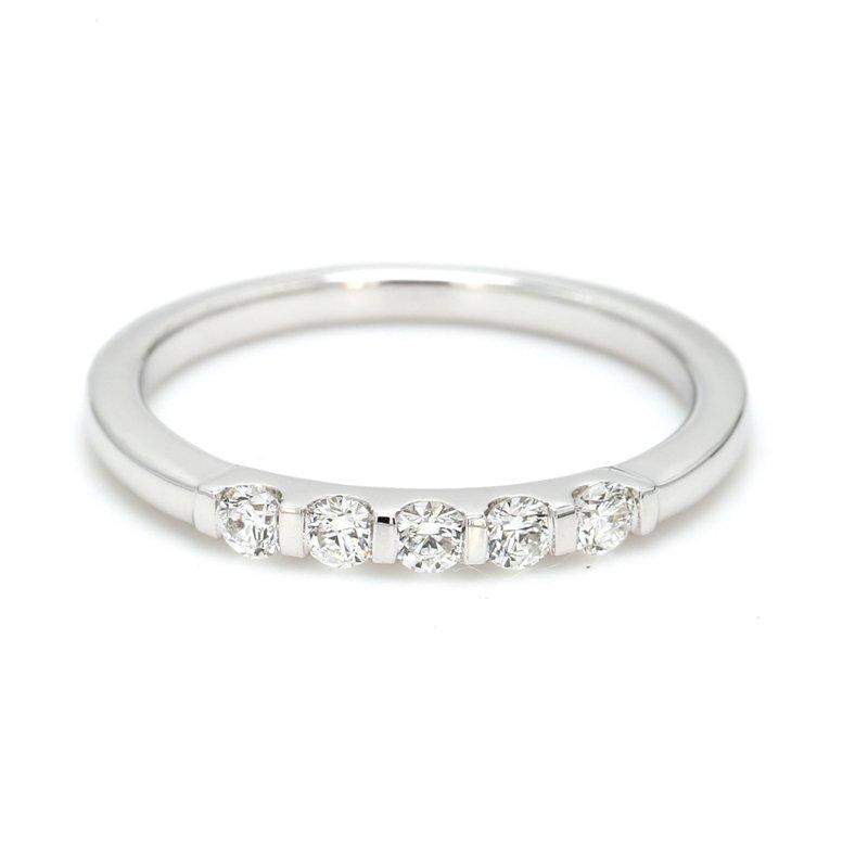 Spicer Greene 5 Stone Diamond Wedding Band