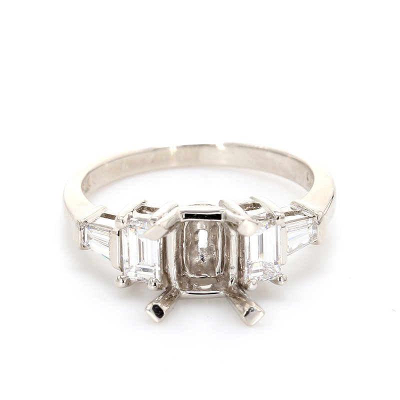 Spicer Greene 5 Stone Semi Mount Engagement Ring