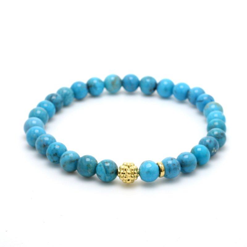 Lagos Turquoise Beaded Bracelet
