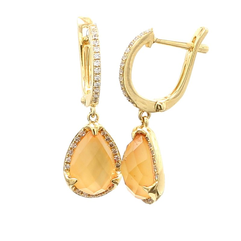Color by Spicer Greene Citrine Drop Earrings