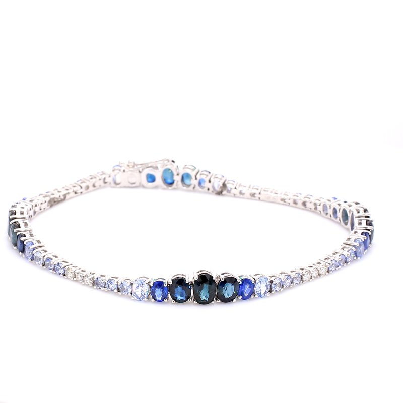 Color by Spicer Greene Sapphire Tennis Bracelet