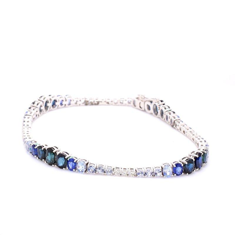 Color by Spicer Greene Sapphire Tennis Bracelet