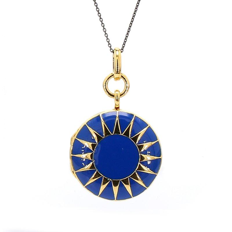 Monica Rich Kosann Blue Enamel Locket