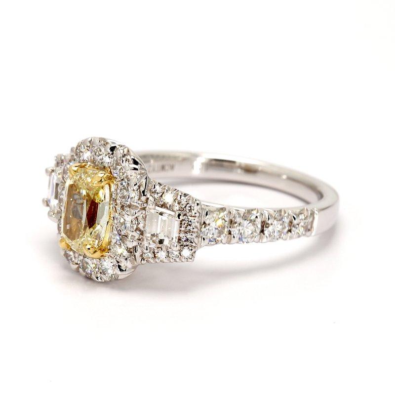 Henri Daussi 3 Stone Engagement Ring