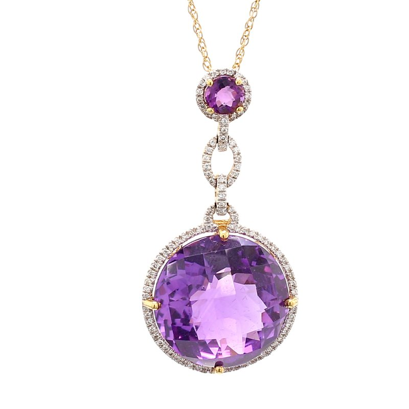 Color by Spicer Greene Amethyst Halo Pendant