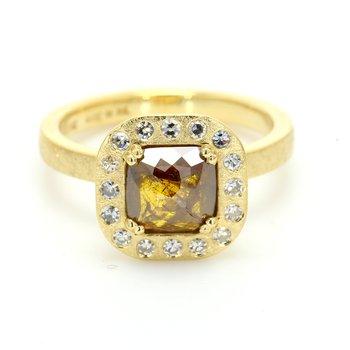 Contemporary Halo Diamond Ring