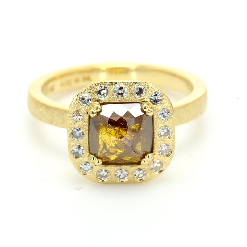 Spicer Greene Modern Diamond Halo Ring