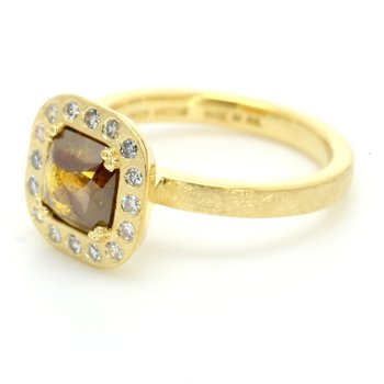 Modern Diamond Halo Ring