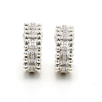 Diamond Omega Earrings