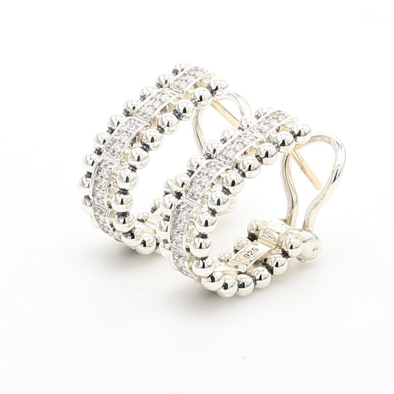 Lagos Diamond Omega Earrings
