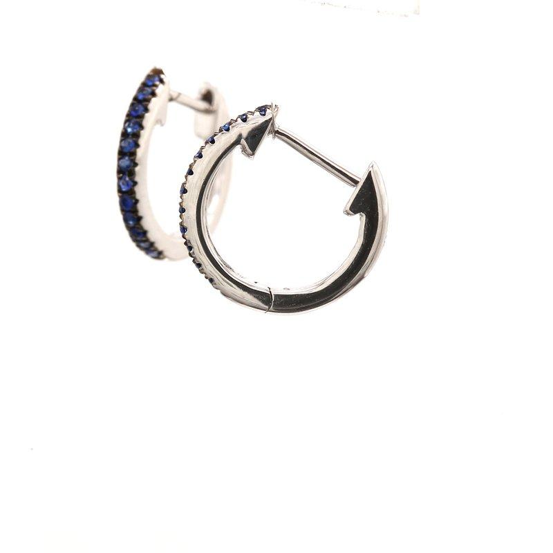 Color by Spicer Greene Sapphire Huggie Earrings