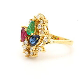 Gemstone Cluster Ring