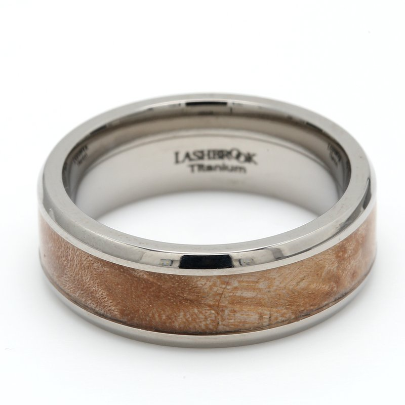 Lashbrook Designs Titanium & Wood Wedding Band