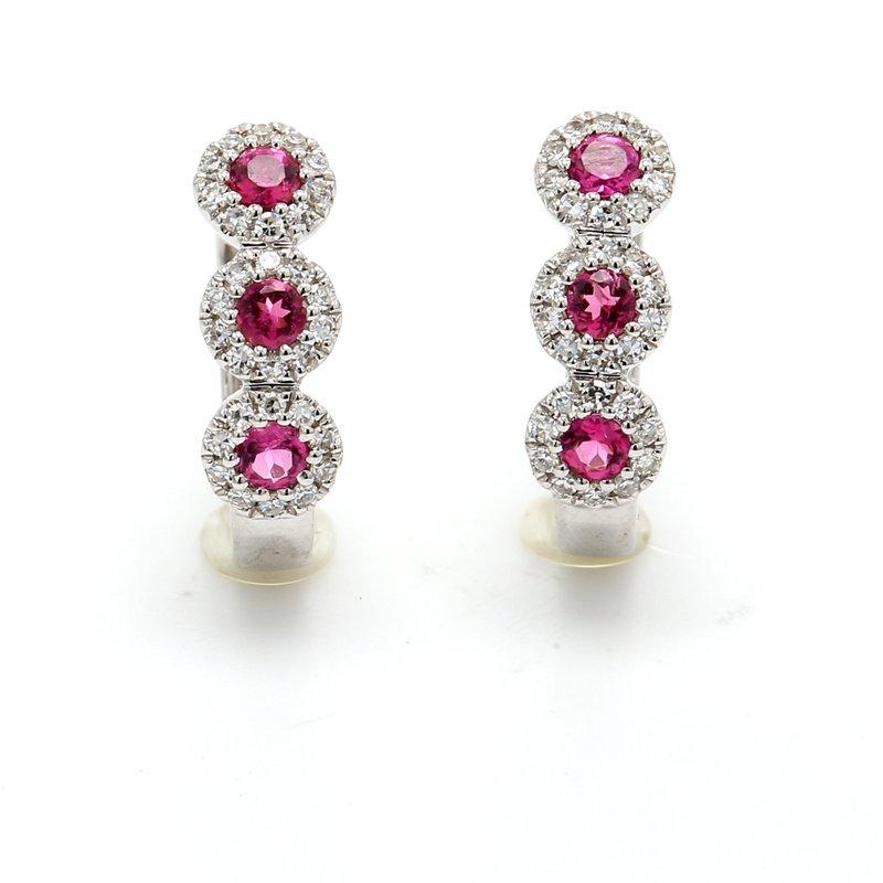 Spicer Greene Tourmaline Huggie Hoop Earrings
