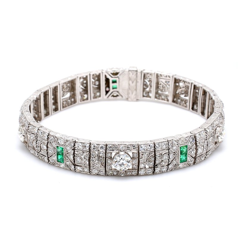 Estate Diamond Art Deco Bracelet