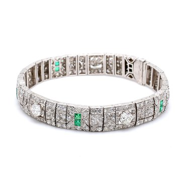 Diamond Art Deco Bracelet