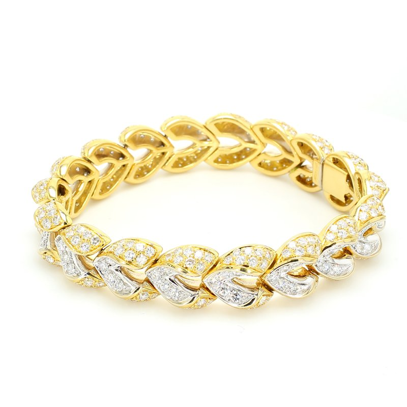 Estate Diamond Herringbone Bracelet