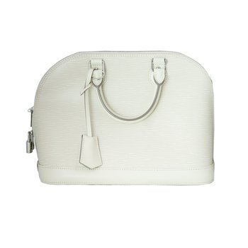 Louis Vuitton Alma Epi White PM 2015