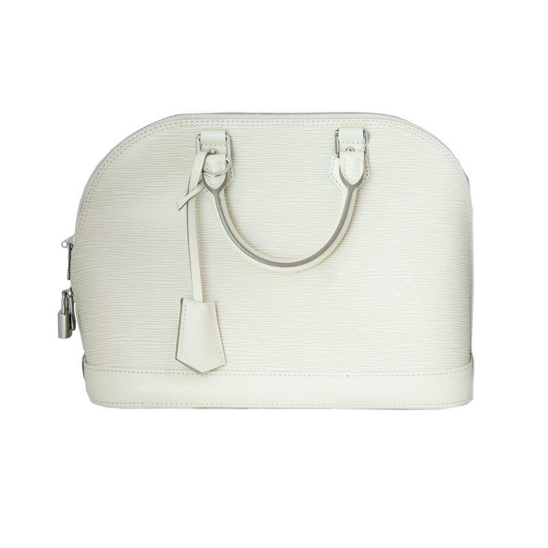 Pre-Owned Luxury Handbags Louis Vuitton Alma Epi White PM 2015