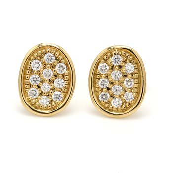 Lunaria Diamond Cluster Stud Earrings