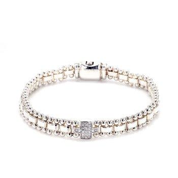 Diamond Fancy Link Bracelet