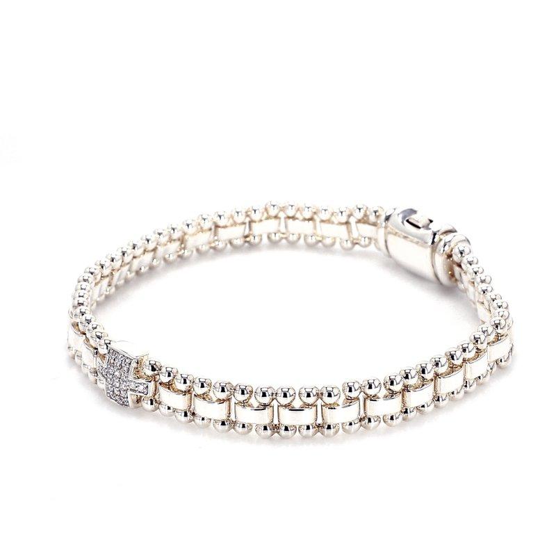 Lagos Diamond Fancy Link Bracelet