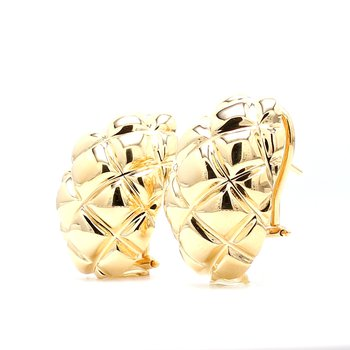 Gold Omega Back Earrings