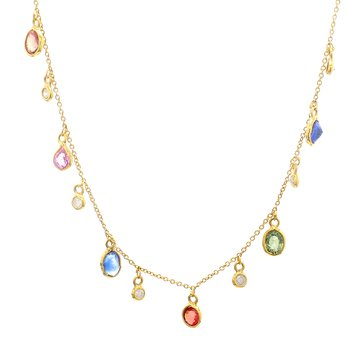 Sapphire Fixed Pendant Necklace