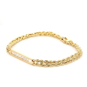Diamond Rope Bracelet