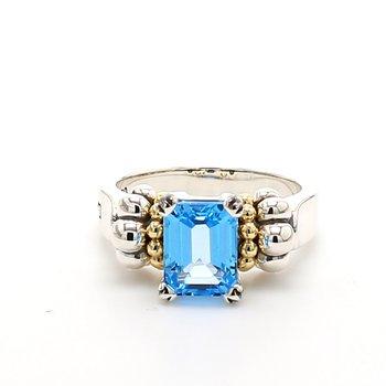 Topaz Caviar Ring