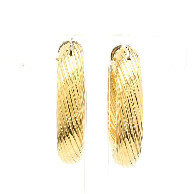 Estate Yellow Gold Hoop Earrings