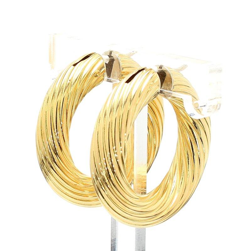 Estate Yellow Gold Hoop Earrings