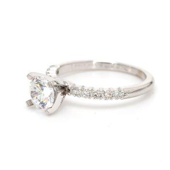 Solitaire with Diamonds Semi Mount