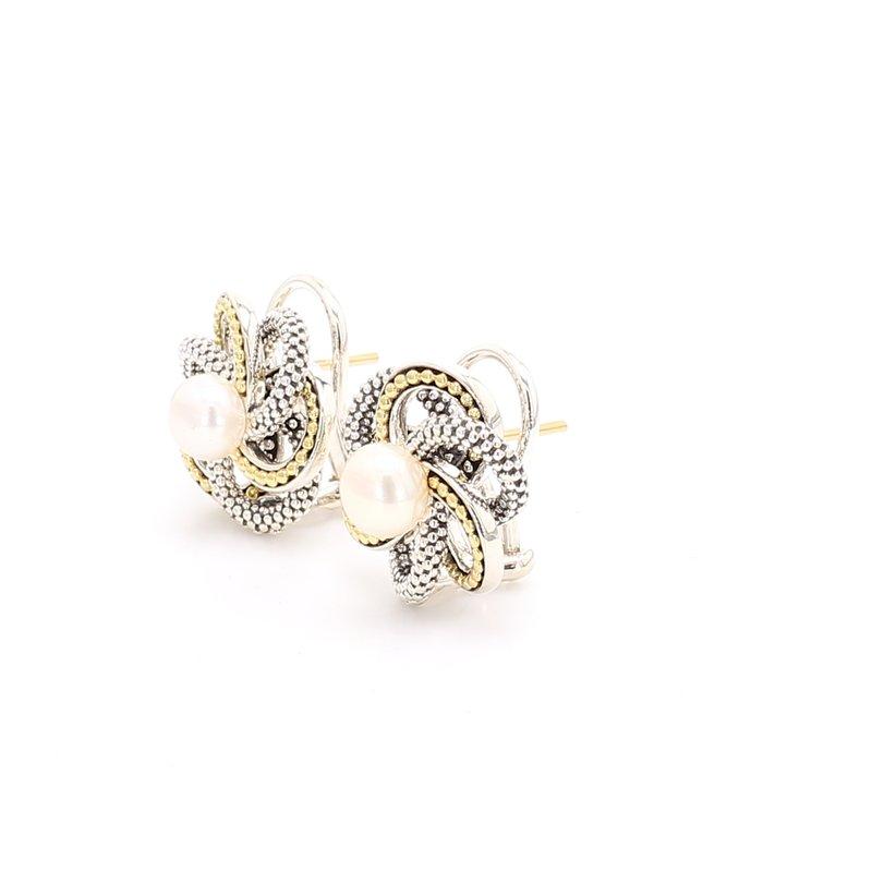 Lagos Freshwater Pearl Love Knot Earrings