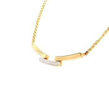 Diamond Fixed Pendant Necklace