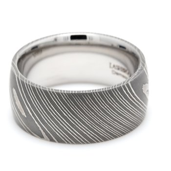 Damascus Steel Wedding Band