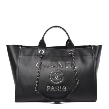 Chanel Caviar Medium Studded Deauville Tote