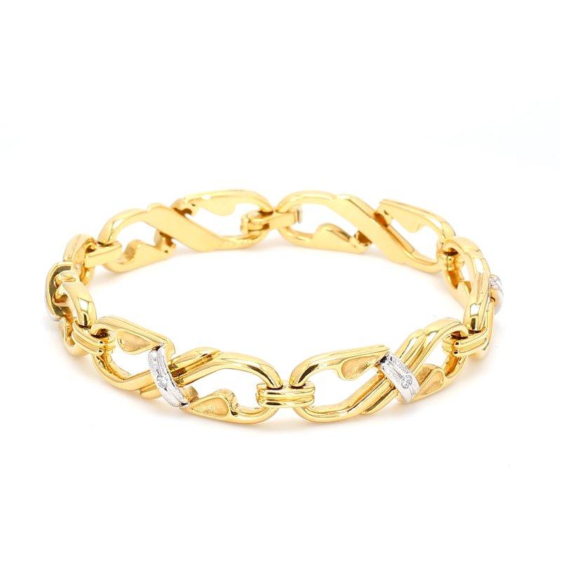 Estate Diamond Link Bracelet