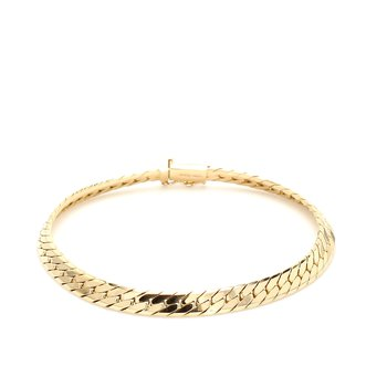 Gold Herringbone Bracelet