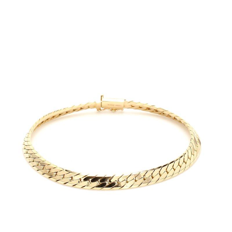 Estate Gold Herringbone Bracelet