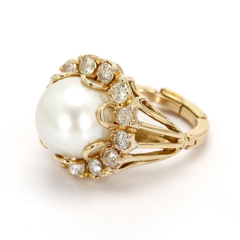 Estate White South Sea Pearl Ring