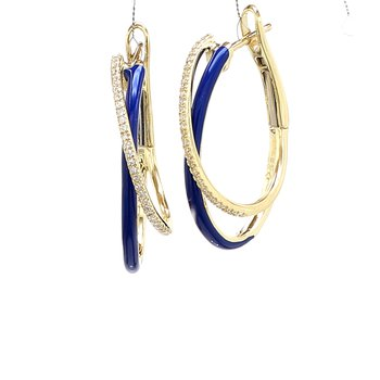 Diamond & Enamel Earrings