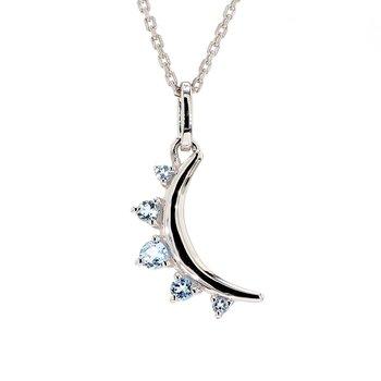 Aquamarine Moon Pendant
