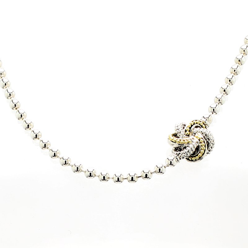 Lagos Love Knot Station Necklace